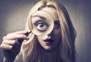 Как определить наличие по движению глаз?