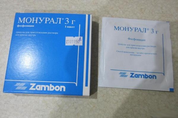 монурал - антибиотик при пиелонефрите