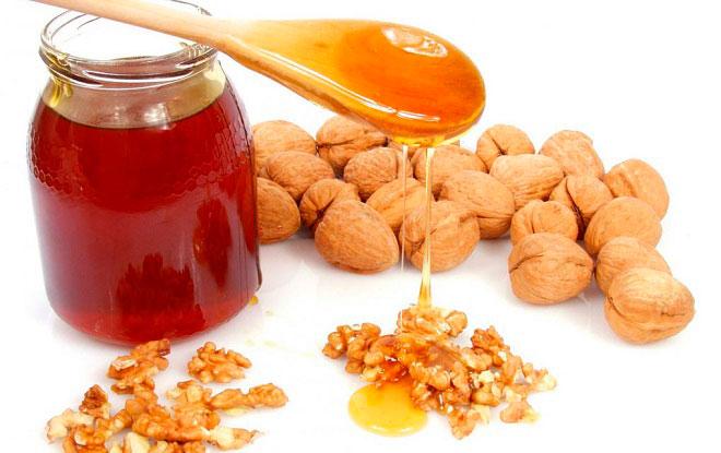 Грецкие орехи с медом - применение