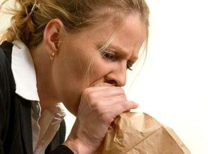 Дыхательные упражнения, использование бумажного пакета