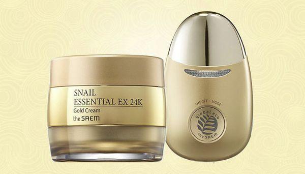 THE SAEM Snail Essential EX 24K Gold Set